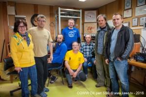 OM7M team, from left: OM5MF, OM2IB, OM5ZW, OM4MM, OK2ZI, OM3PC, OK2PAY, OM2KI