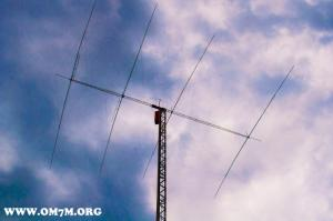 building and lifting 4/4/4 Yagi for 20m