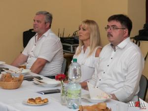 Predstavitelia mesta Partizánske: viceprimátor Vladimír Karásek, Iveta Škodová, primátor Jozef Božik